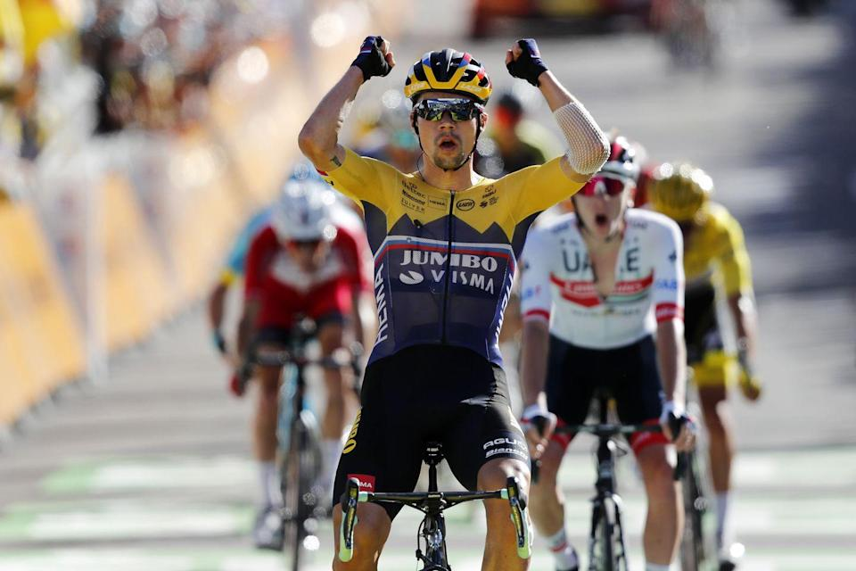 """<p><strong>Who's Winning the Tour?</strong></p><p>Deceuninck - Quick-Step's Julian Alaphilippe defended his overall lead in the 2020 Tour de France on Stage 4 in Orcières-Merlette, the Tour's first summit finish. The Frenchman looked calm throughout the final Category 1 climb, tucked comfortably in the front of the pack as riders from Jumbo-Visma and INEOS Grenadiers set the pace. Jumbo-Visma's Primož Roglič rewarded his team's efforts by winning the stage, UAE's Tadej Pogačar and Cofidis's Guillaume Martin finished second and third, respectively.</p><p><strong>Who's <em>(Really)</em> Winning the Tour?</strong></p><p>The Tour's first summit finish didn't reveal much, as almost all of the prerace contenders finished together atop the Category 1 climb to Orcières-Merlette, with Roglič winning the """"sprint."""" Expect Alaphilippe to retain the yellow jersey until at least Thursday, the Tour's next uphill finish, when the Frenchman and his Quick-Step teammates will once again be tested by Jumbo-Visma and INEOS. That said, there's still much harder racing to come, and Jumbo and INEOS are happy to have another rider and team defending the jersey, confident that Alaphilippe is not a true threat to win the Tour overall. </p>"""