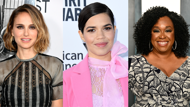 The new documentary NOT DONE, set to premiere on PBS in June, features celeb activists including, from left, Natalie Portman, America Ferrera and Shonda Rhimes. (Photos: Getty Images)