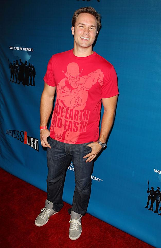 """Scott Porter (""""Hart of Dixie"""") at DC Entertainment's """"Darkness & Light"""" party during Comic-Con International on July 12, 2012 in San Diego, California."""