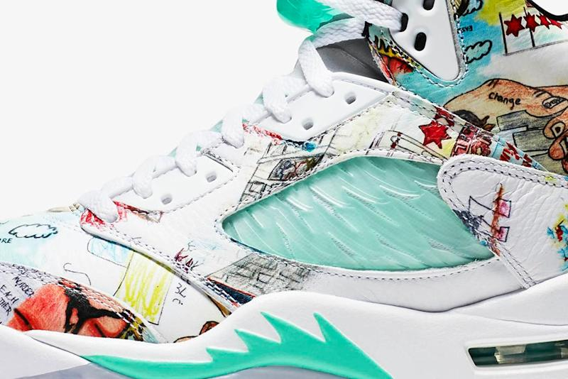 best website 1b851 c3737 ... of the beloved Air Jordan 5, but the one dropping this weekend is far  different from the rest. This take on the sneaker features illustrations  from ...