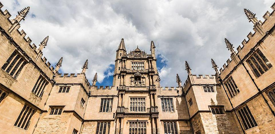 "<p>We're not exactly sure when the University of Oxford was founded; however, there is evidence that it dates back to 1096, making it the oldest university in the English-speaking world. It was recently ranked first in the world by the <a href=""https://www.timeshighereducation.com/world-university-rankings/2017/world-ranking#!/page/0/length/25/sort_by/rank/sort_order/asc/cols/stats"" rel=""nofollow noopener"" target=""_blank"" data-ylk=""slk:Times Higher Education World University Rankings"" class=""link rapid-noclick-resp"">Times Higher Education World University Rankings</a>. As you can imagine, this university's trophy shelf is pretty crowded. </p>"