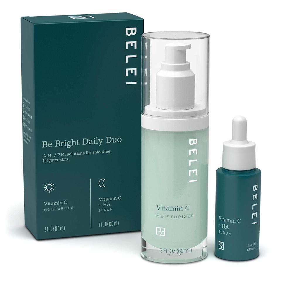 """<h2>'Be Bright' Daily Duo Skincare Kit</h2><br><br><strong>Belei</strong> 'Be Bright' Daily Duo Skin Care Starter Kit, $, available at <a href=""""https://amzn.to/2U9gQCd"""" rel=""""nofollow noopener"""" target=""""_blank"""" data-ylk=""""slk:Amazon"""" class=""""link rapid-noclick-resp"""">Amazon</a>"""