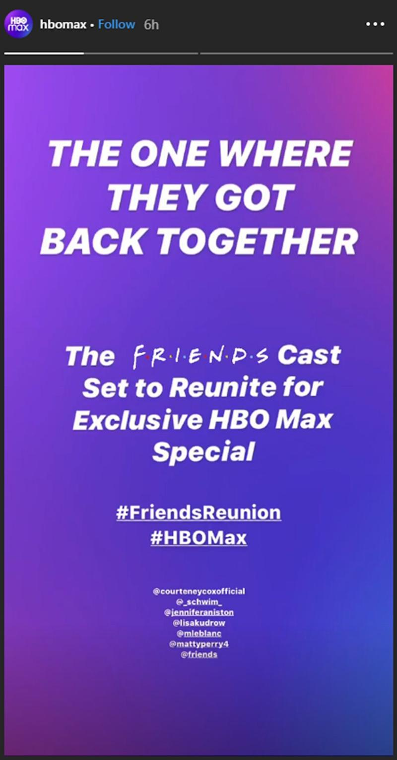 friends reunion hbo