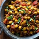 <p>Made with convenient canned beans, this quick and healthy Indian recipe is an authentic chickpea curry that you can make in minutes. If you want an additional vegetable, stir in some roasted cauliflower florets. Serve with brown basmati rice or warm naan.</p>
