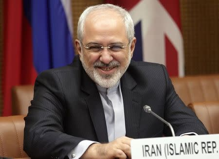 Iranian Foreign Minister Zarif waits to begin talks in Vienna