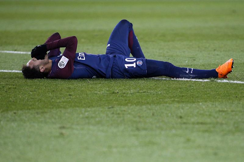 Neymar Injured His Ankle Against Marseille Just Nine Days Before A Crucial Champions League Match Against Real Madrid Getty