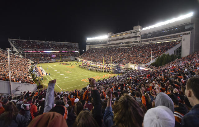 North Carolina Gov. Roy Cooper jumped into the scheduling battle between Virginia Tech and East Carolina on Thursday. (Michael Shroyer/Getty Images)