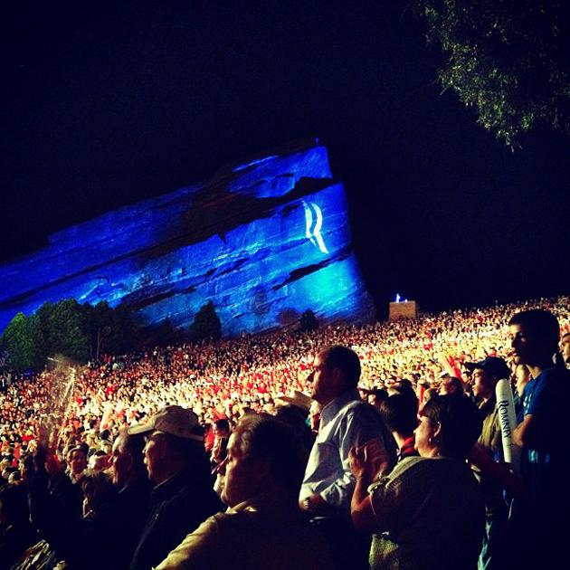 Massive crowd at Romney rally at Red Rocks (Morrison CO) - @hollybdc, via Twitter