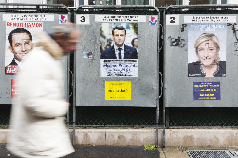 French poll: Macron, Le Pen still front runners