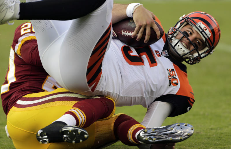 AJ McCarron has not had a great preseason for the Bengals. (AP)