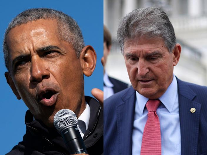 Manchin's moderate voting rights compromise wins support from Obama (Getty)