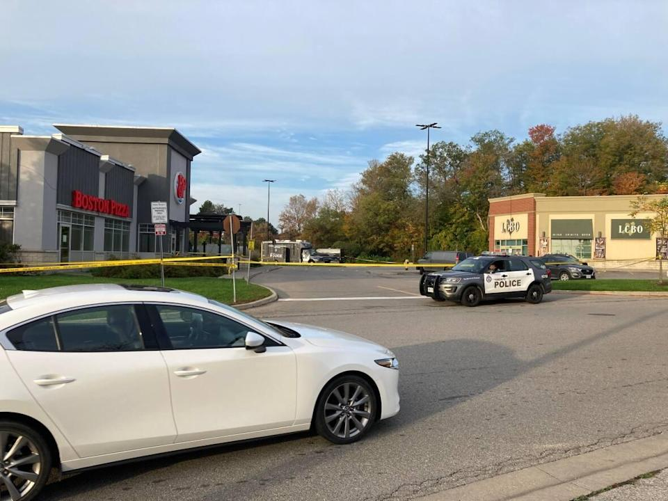 The man was found in this parking lot.  (Michael Aitkens/CBC - image credit)