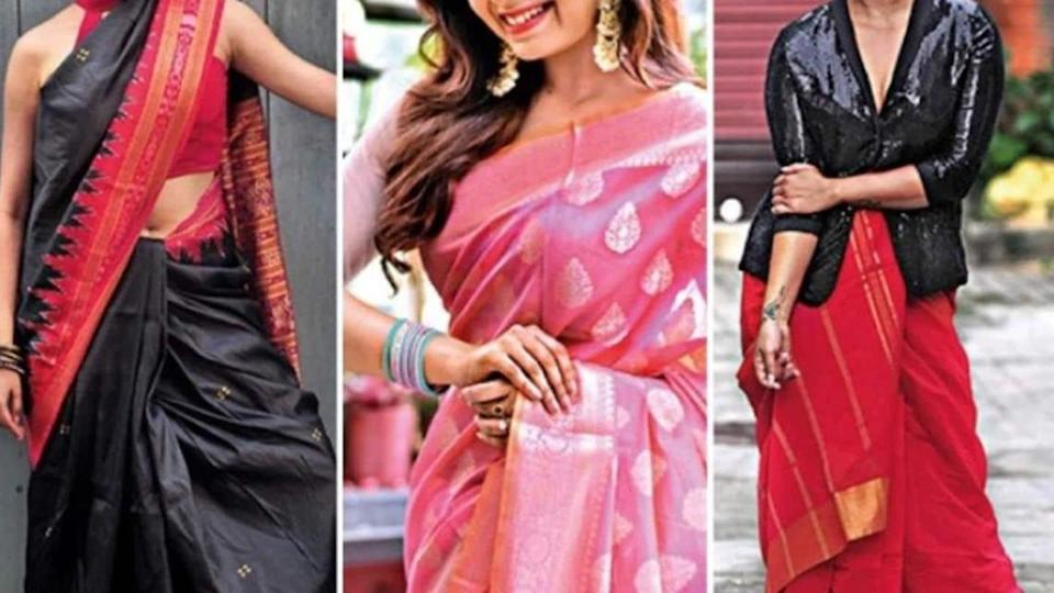 What can girls wear on five days of Durga Puja?