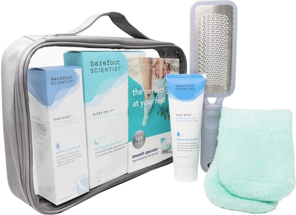 <p>Give your feet some deserved love with the <span>Barefoot Scientist Smooth Operator Holiday Foot Care Kit</span> ($49).</p>