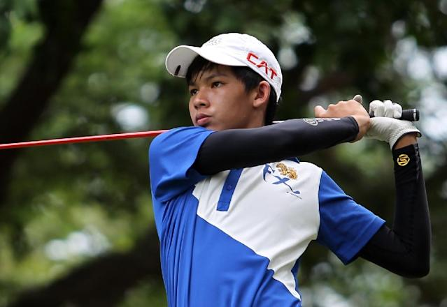 Thai Phachara Khongwatmai, seen in action during the Singha Hua Hin Open, on the ASEAN PGA Tour, in 2013 (AFP Photo/-)