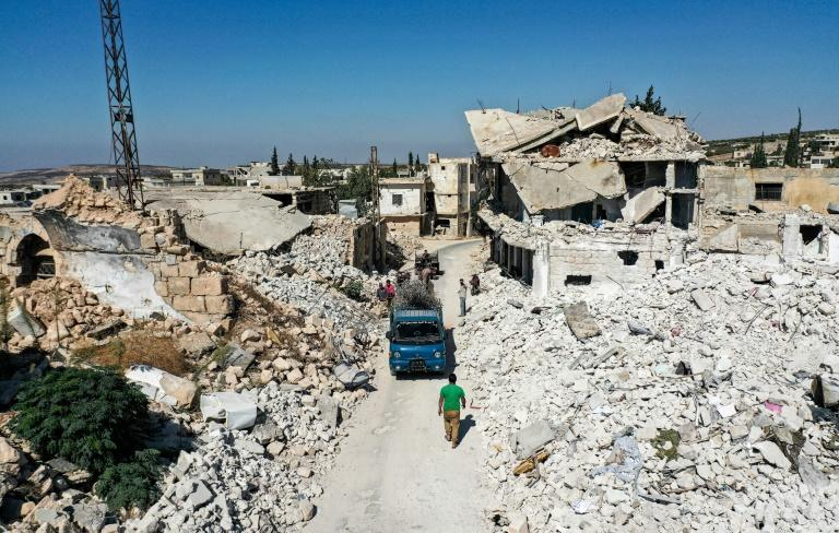 The strike hit in Syria's last major rebel bastion of Idlib (pictured October 18, 2020), which is dominated by the Hayat Tahrir al-Sham (HTS) group led a former Al-Qaeda affiliate, but other jihadist groups are also present in the area