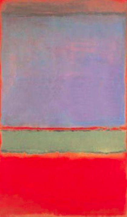 <p>6. No. 6 (Violet, Green and Red) – Mark Rothko (1951). Sold for: £162.9m. Painted in 1951, the fifth most expensive painting was bought by Russian businessman Dmitry Rybolovlev in 2014. (Pic: Wiki Commons) </p>