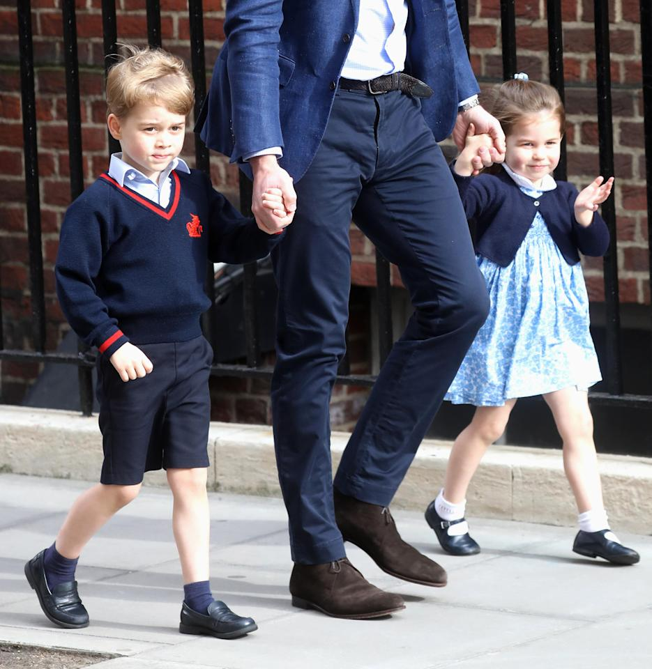 <p>Prince George and Princess Charlotte were two of the first people to meet the new royal baby.</p>