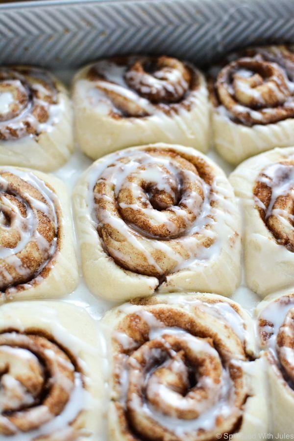 "<p>The best part about these cinnamon rolls —<span class=""redactor-invisible-space""> besides how delicious and fluffy they are —<span class=""redactor-invisible-space""> is that they only take an hour to make. No waiting overnight for the dough to rise. </span></span></p><p><span class=""redactor-invisible-space""><span class=""redactor-invisible-space""><a href=""http://www.sprinkledwithjules.com/home/2015/10/17/1-hour-vegan-cinnamon-rolls"" rel=""nofollow noopener"" target=""_blank"" data-ylk=""slk:Get the recipe from Sprinkled With Jules »"" class=""link rapid-noclick-resp""><em>Get the recipe from Sprinkled With Jules »</em></a></span></span></p>"