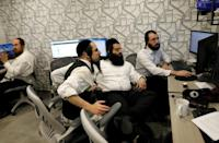 At Bizmax, a shared workspace, all the entrepreneurs are ultra-Orthodox Jews, a rarity in a community where many men shun work for religious study