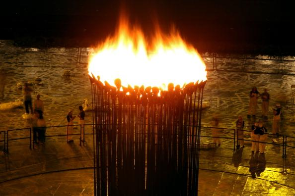 LONDON, ENGLAND - JULY 27:  The Olympic flame burns within the Cauldron during the Opening Ceremony of the London 2012 Olympic Games at the Olympic Stadium on July 27, 2012 in London, England.  (Photo by Richard Heathcote/Getty Images)