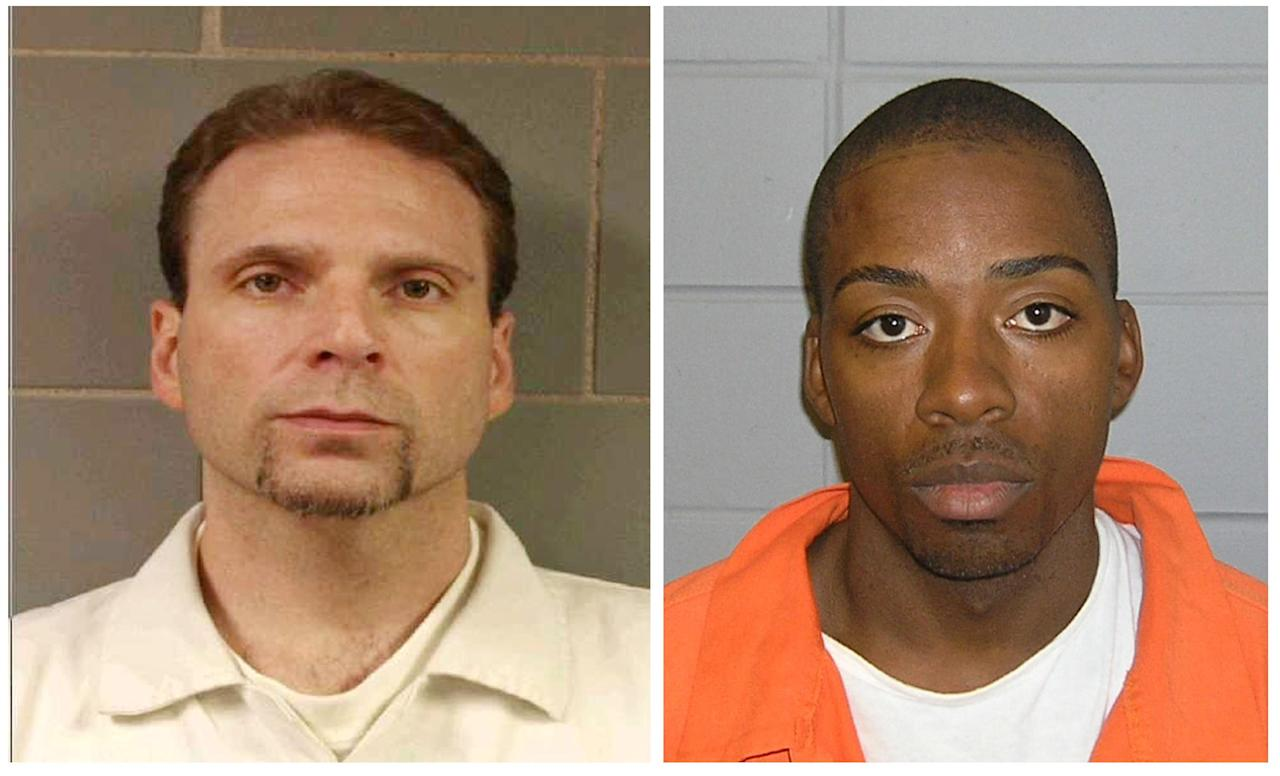 This undated photo provided by the FBI shows , Kenneth Conley, left and Jose Banks two inmates who escaped from the Metropolitan Correctional Center in downtown Chicago Tuesday, Dec. 18, 2012. Chicago Police Sgt. Michael Lazarro says their disappearance was discovered at about 8:45 Tuesday morning. Lazarro says the pair used a rope or bed sheets to climb from the building. (AP Photo/FBI,HOPD)