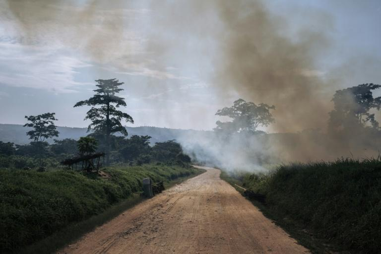 Highway of danger: The road from Beni to the Ugandan border has suffered dozens of attacks since last December