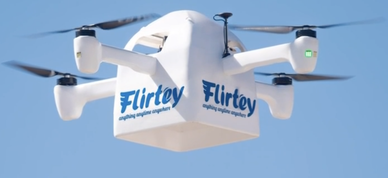 Flirtey says its new technology helps deliver packages to customer homes in less than 10 minutes (Courtesy: Flirtey)