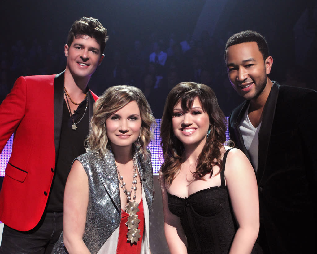"<p><b>Duets</b> (Thursday, 5/24 on ABC)<br><br> Kelly Clarkson, Jennifer Nettles (of Sugarland), Robin Thicke, and John Legend are the celebrity talent on this latest singing competition show. These ""superstars"" are going to scour the country for talent (or go wherever a producer tells them) and then pick two people to perform with onstage every week. </p>"