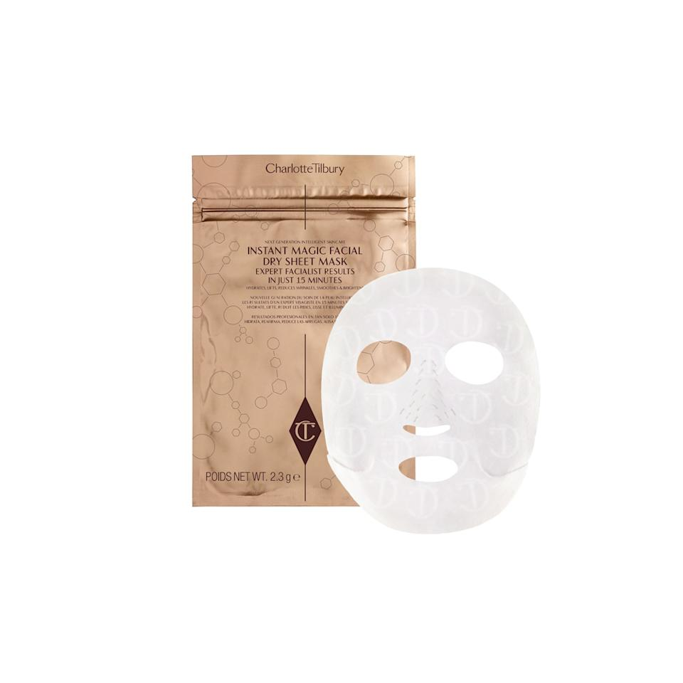"""<p>Sought after and highly favored makeup artist Charlotte Tilbury knows a thing or two about beautifying some of Hollywood's favorite faces, so it only made sense that she would come out with a top-notch sheet mask to complement her skills. The dry sheets have good-for-your-skin ingredients, which include vitamin B3, crocus bulb extract, and peptides that leave Mom with an even brighter glow than she already has.<span> Plus, its dry texture doesn't hold on to bacteria and can be worn up to three times. <strong>Charlotte Tilbury Instant Magic Facial Dry Sheet Mask</strong>, <a rel=""""nofollow"""" href=""""http://www.charlottetilbury.com/us/dry-sheet-face-mask.html"""">$22 for 1 mask or $80 for 4 masks</a> </span>(Photo: Charlotte Tilbury) </p>"""
