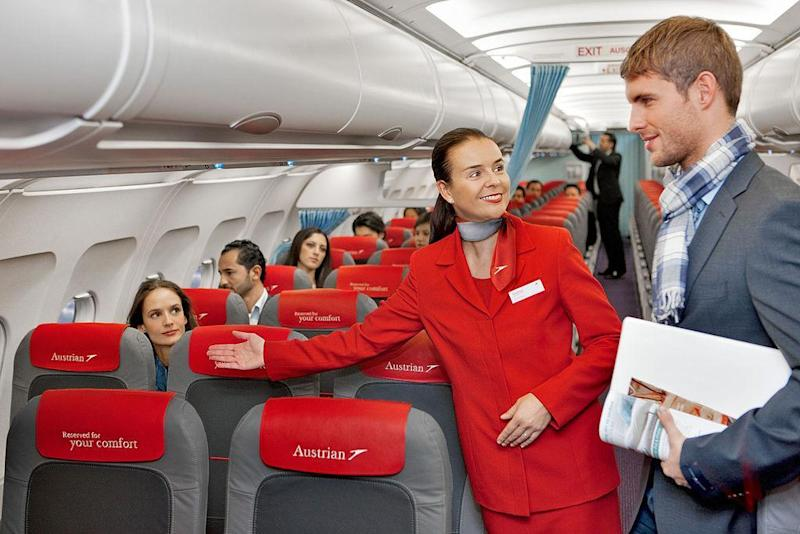 Cabin crew must be polite despite the unreasonable demands of some business class passengers, who are not pictured here (Austrian Airlines/Flickr (CC by SA 2.0))