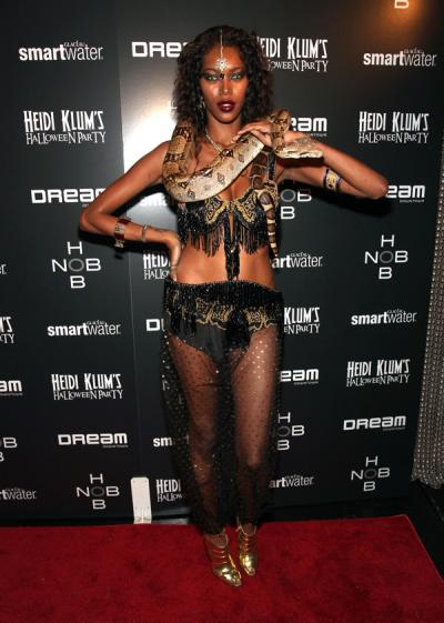 "<div class=""caption-credit""> Photo by: Getty</div><div class=""caption-title""></div>Sexy snake charmer is always a good idea too. Jessica White gets an A+. <br>"