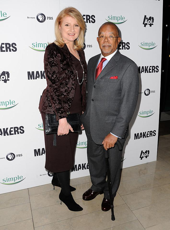 "Arianna Huffington and Henry Louis Gates Jr. arrive at ""MAKERS: Women Who Make America"" New York Premiere at Alice Tully Hall on February 6, 2013 in New York City."