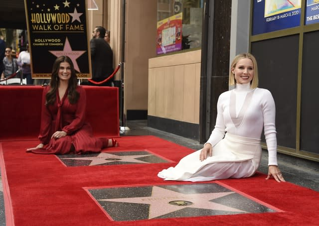 Kristen Bell and Idina Menzel Honored with Stars on the Hollywood Walk of Fame