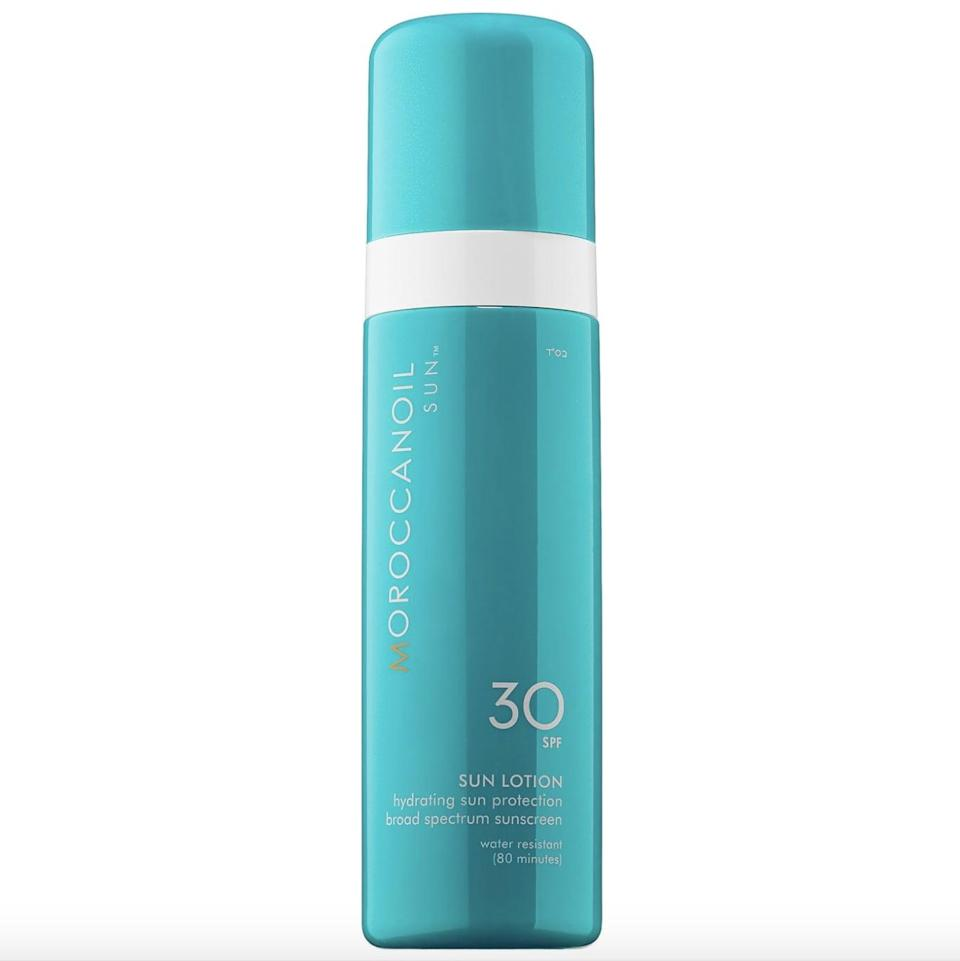 <p>Rich with moisturizing ingredients like argan oil and coconut oil, the <span>Moroccanoil Sun Lotion 30 SPF</span> ($32) hydrates and nourishes dry skin while providing sun protection.</p>