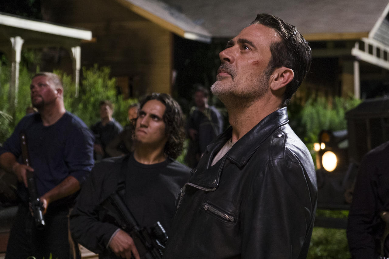 <p>Jeffrey Dean Morgan as Negan, Saviors in AMC's <i>The Walking Dead</i>.<br />(Photo: Gene Page/AMC) </p>