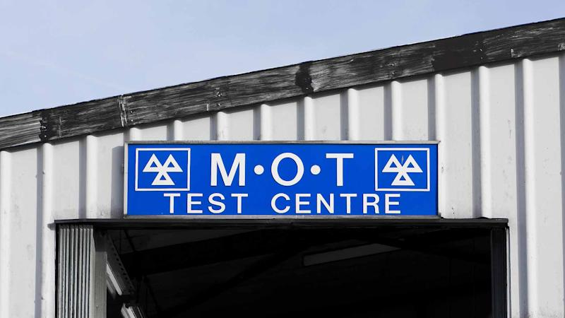 MOT test centre sign