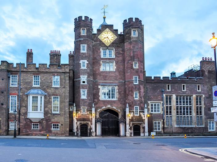 St. James's Palace in London.