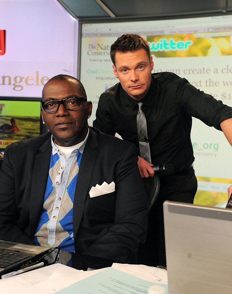"Seacrest spent some time hanging with his dawg from ""American Idol,"" Randy Jackson. Jordan Strauss/<a href=""http://www.wireimage.com"" target=""new"">WireImage.com</a> - June 21, 2010"
