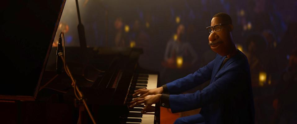"""<p><em>Nominated for: Best Motion Picture–Animated; Best Original Score–Motion Picture (Trent Reznor, Atticus Ross, Jon Batiste)</em></p> <p>Pixar's latest tear-jerker is about an almost-pro jazz musician whose life is turned upside down when it, well, ends, in a freak accident, taking him to an afterlife he isn't ready for and refuses to succumb to. From there, it's body switching, soul-swapping, piano-playing, and learning the true meaning of life. You know, kid stuff.</p> <p><a href=""""https://cna.st/affiliate-link/a7yg5mSSRkYmDPrheDmv9o9hTAh5yKqoR1643Ufbpykv9RbZvf1PekBwADZZQmtu48Yg9edgjJBRTvcnHzCYB2zVDnKQyBKHYmSqskLfBSMvP?cid=5fb2e77a73cd43f958145dc9"""" rel=""""nofollow noopener"""" target=""""_blank"""" data-ylk=""""slk:Watch now on Disney Plus"""" class=""""link rapid-noclick-resp""""><em>Watch now on Disney Plus</em></a></p>"""