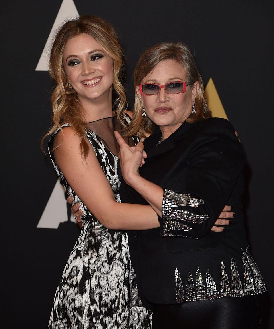 "<p><strong>Famous parent(s): </strong>actress and writer Carrie Fisher and talent agent Bryan Lourd; granddaughter to Debbie Reynolds<br><strong>What it was like: </strong>""I've always kind of lived in their shadows, and now is the first time in my life when I get to own my life and stand on my own,"" <a href=""https://www.vanityfair.com/style/2017/08/billie-lourd-carrie-fisher-interview"" rel=""nofollow noopener"" target=""_blank"" data-ylk=""slk:she's said"" class=""link rapid-noclick-resp"">she's said</a>. ""I love being my mother's daughter, and it's something I always will be, but now I get to be just Billie.""</p>"
