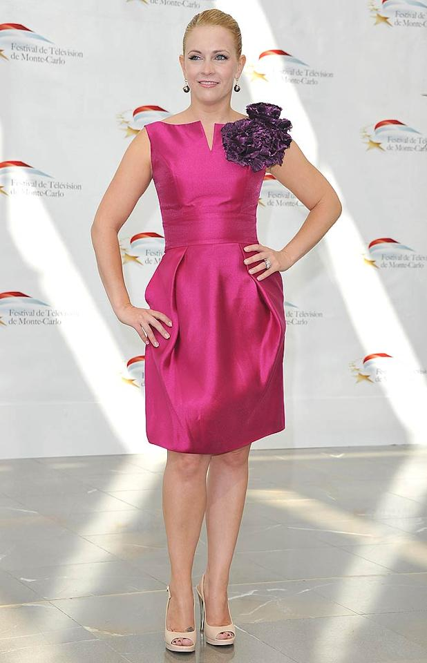 """Here's a first: Melissa Joan Hart in 2 Hot 2 Handle. The former """"Clarissa Explains It All"""" star was recently spotted looking better than ever at the 51st Monte Carlo TV Festival in a fuchsia, Carrie Bradshaw-like cocktail frock and pale pink peep-toes. Pascal Le Segretain/<a href=""""http://www.gettyimages.com/"""" target=""""new"""">GettyImages.com</a> - June 8, 2011"""