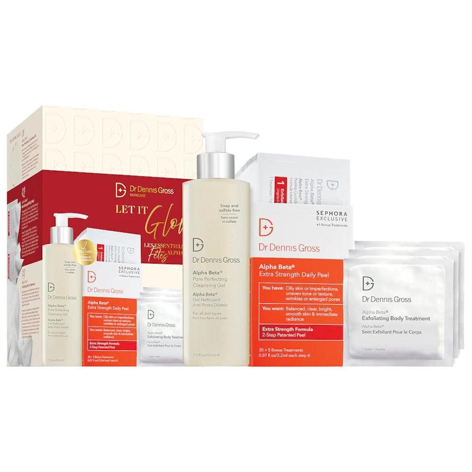 <p>If they're always about getting a glowing complexion, they need this <span>Dr. Dennis Gross Skincare Let It Glow Set</span> ($88). It contains, among other things, the brand's signature Alpha Beta Peel.</p>
