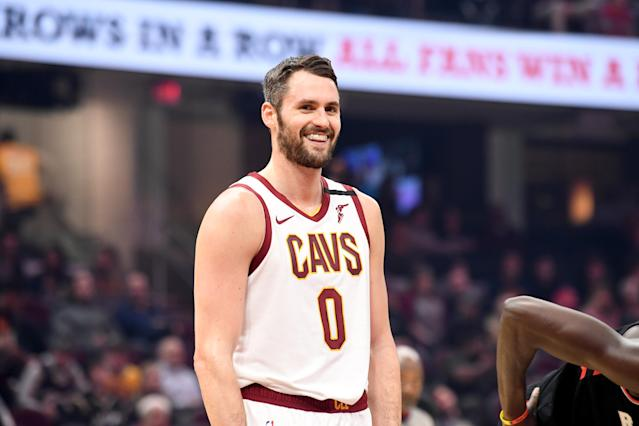 Kevin Love's donation comes just one day after he won the Arthur Ashe Courage Award for his mental health advocacy work. (Jason Miller/Getty Images)