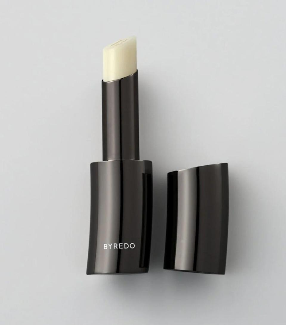 """<p><span>Byredo Lip Balm</span> ($42)</p> <p>""""If your loved one already has a thing for Byredo, they'll appreciate a piece from the brand's new makeup collection. With beautifully luxe mixed metal packaging in avant-garde shapes, these products will fit right in with their Byredo candles and perfumes. The lip balm is a no-fail option if you don't want to commit to a specific lipstick shade for your recipient."""" - SN</p>"""