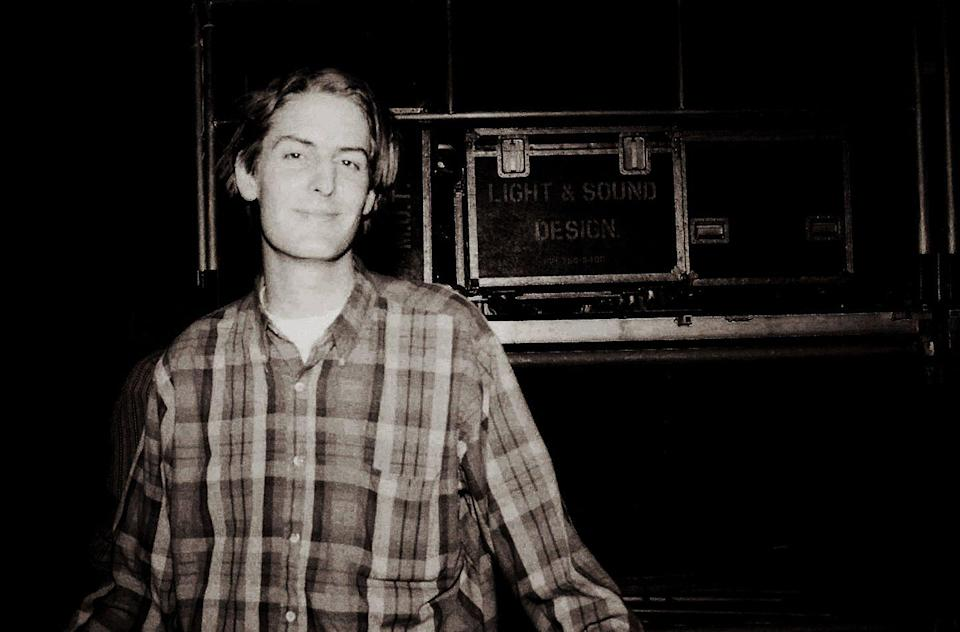 <p>Stephen Malkmus backstage at Castaic Lake Natural Amphitheater after Pavement's set and before Mudhoney and Sonic Youth perform on September 26, 1992 in Castaic, California.</p>