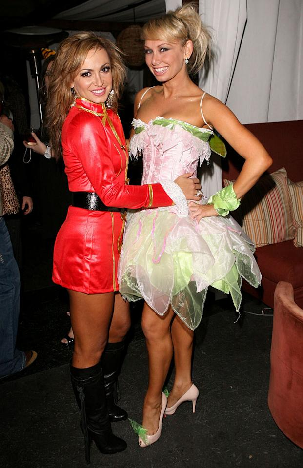"Are Karina Smirnoff and Kym Johnson wearing costumes, or did they just come from a ""Dancing With the Stars"" rehearsal? Jesse Grant/<a href=""http://www.wireimage.com"" target=""new"">WireImage.com</a> - October 30, 2008"