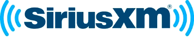A blue rendering of the Sirius XM logo.