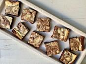 """<p><strong>Recipe: <a href=""""https://www.southernliving.com/recipes/cream-cheese-brownies"""" rel=""""nofollow noopener"""" target=""""_blank"""" data-ylk=""""slk:Cream Cheese Brownies"""" class=""""link rapid-noclick-resp"""">Cream Cheese Brownies</a> </strong></p> <p>Take regular brownies up a notch with a beautiful cream cheese swirl topping. Marble the cream cheese any way you'd like—it's meant to be abstract.</p>"""