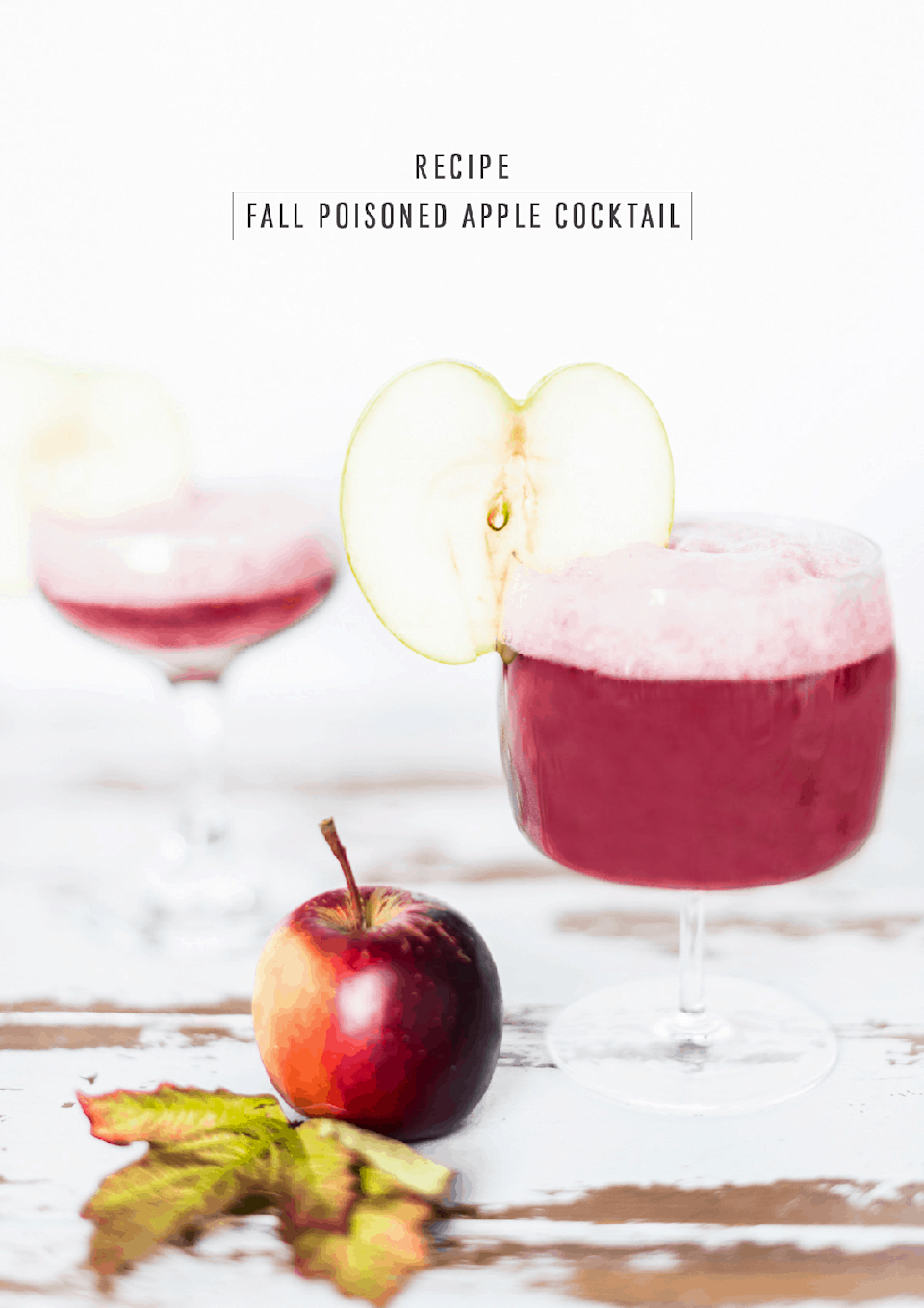 """<p>For an elevated fall drink, this apple brandy concoction will do the trick. Cinnamon and nutmeg give it a lovely spiced flavor.</p><p><strong>Get the recipe at <a href=""""https://sugarandcloth.com/fall-poisoned-apple-cocktail/"""" rel=""""nofollow noopener"""" target=""""_blank"""" data-ylk=""""slk:Sugar & Cloth"""" class=""""link rapid-noclick-resp"""">Sugar & Cloth</a>.</strong></p><p><strong><a class=""""link rapid-noclick-resp"""" href=""""https://go.redirectingat.com?id=74968X1596630&url=https%3A%2F%2Fwww.walmart.com%2Fbrowse%2Fdining-entertaining%2Fdrinkware%2F4044_623679_639999_3148543%3Ffacet%3Dbrand%253AThe%2BPioneer%2BWoman&sref=https%3A%2F%2Fwww.thepioneerwoman.com%2Ffood-cooking%2Fmeals-menus%2Fg33510531%2Ffall-cocktail-recipes%2F"""" rel=""""nofollow noopener"""" target=""""_blank"""" data-ylk=""""slk:SHOP DRINKWARE"""">SHOP DRINKWARE</a><br></strong></p>"""